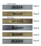 Busan Clock Name Plate |World Time Zone City Wall clocks Sign custom Plaque